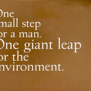 Nae vegan boots box saying: One small step for a man. One giant leap for the environment.
