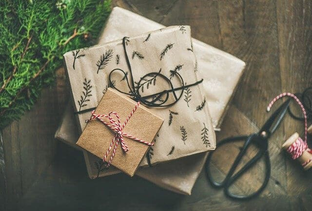 Wrapped up gifts