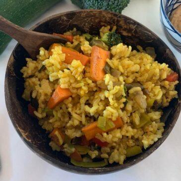 Bowl of 'Nasi Goreng' rice