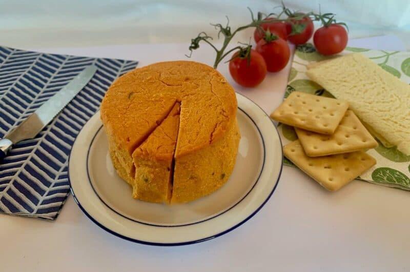 Vegan Cashew Cheese Recipe with Jalapeños