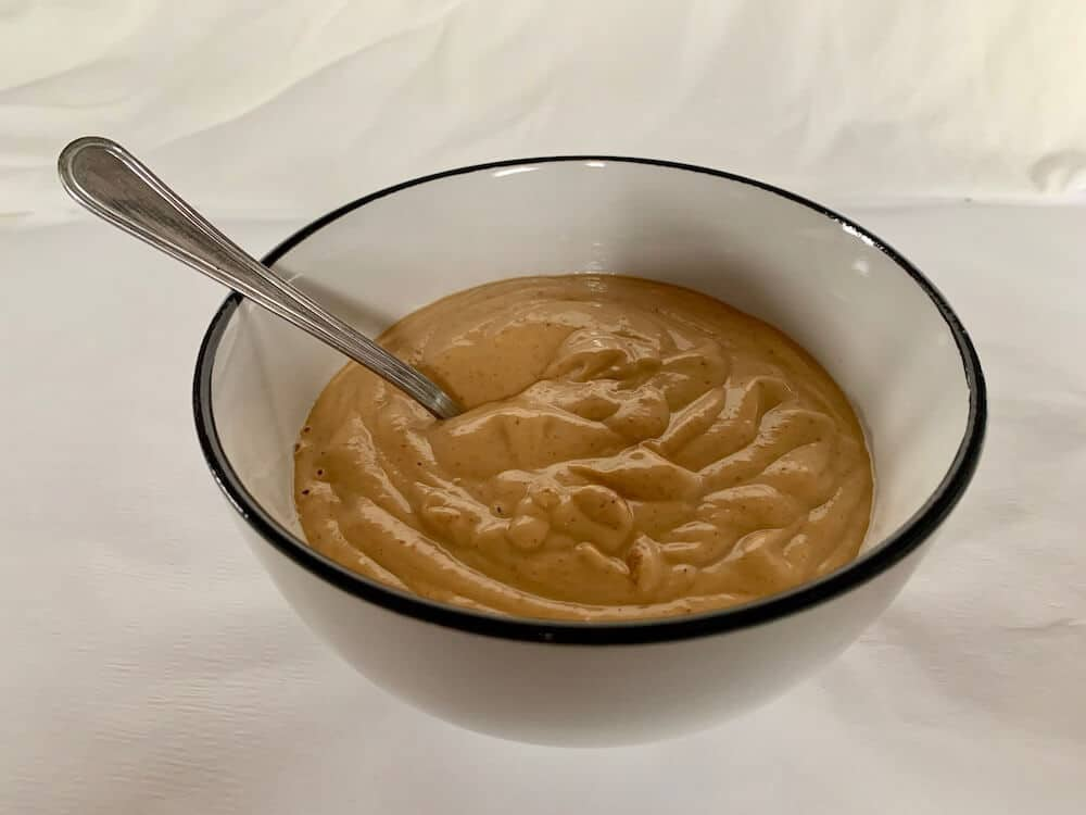 Bowl of spicy peanut sauce