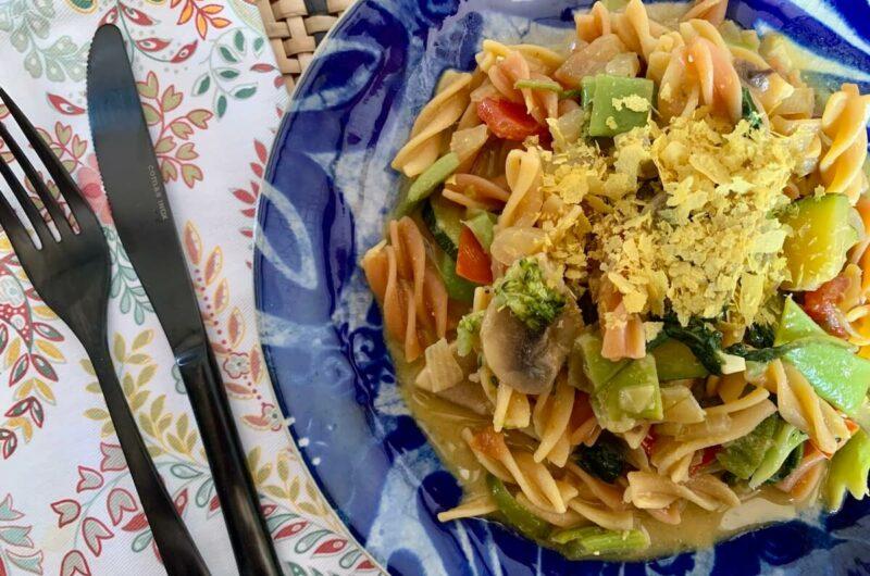 Gluten Free Vegan Carbonara-Style Pasta
