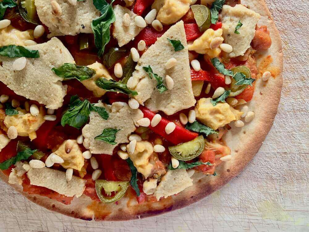 Gluten free, vegan pizza