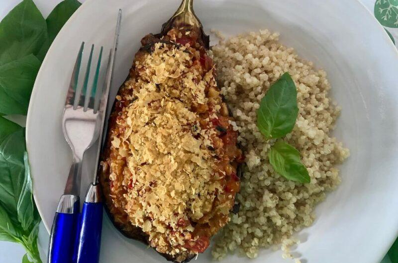Stuffed Eggplant - Vegan and Gluten Free