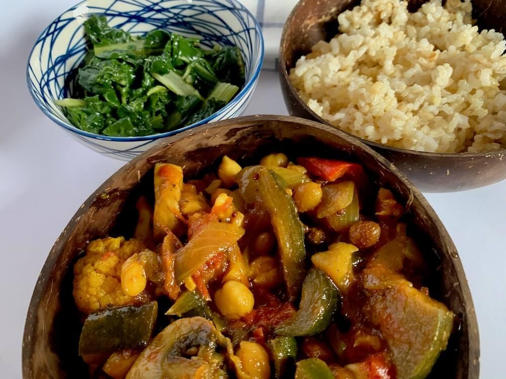 Vegan eggplant curry