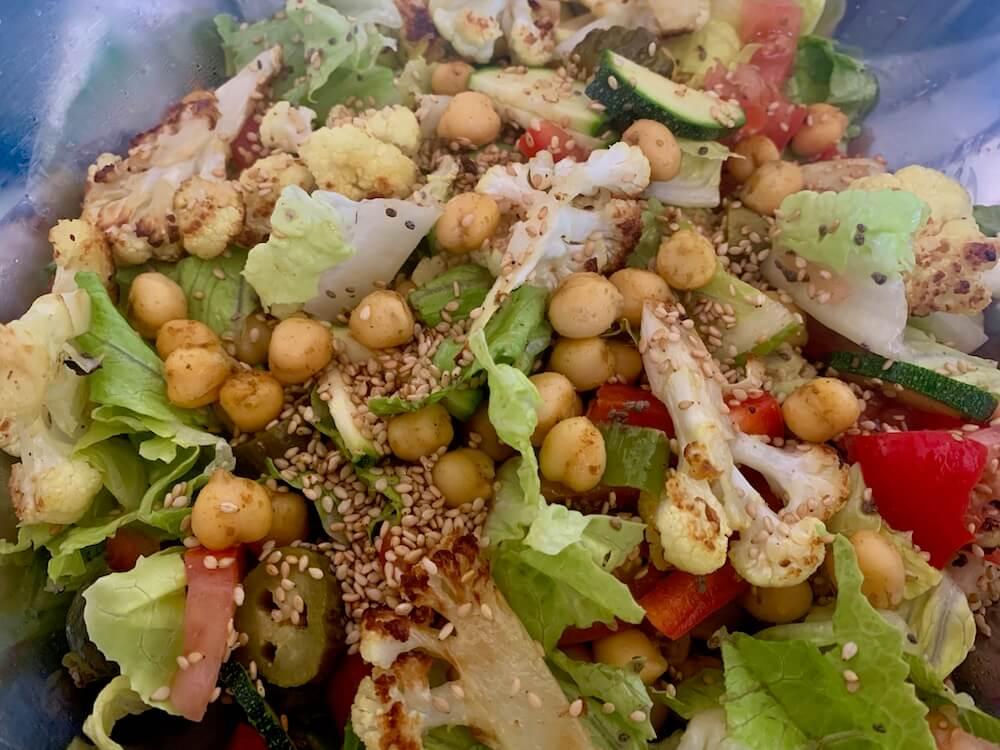 High protein vegan salad