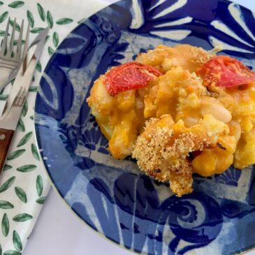 Gluten free vegan cauliflower cheese