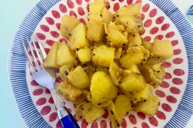 Potatoes in Turmeric & Black Mustard Seeds