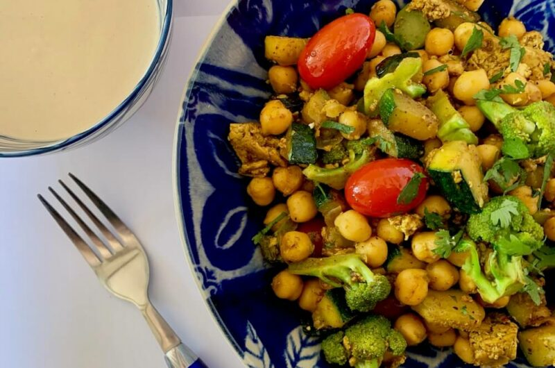 Quick Chickpea Recipe with Broccoli & Zucchini