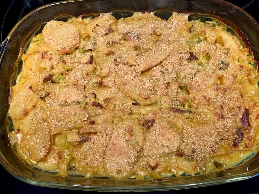Potato casserole before cooking