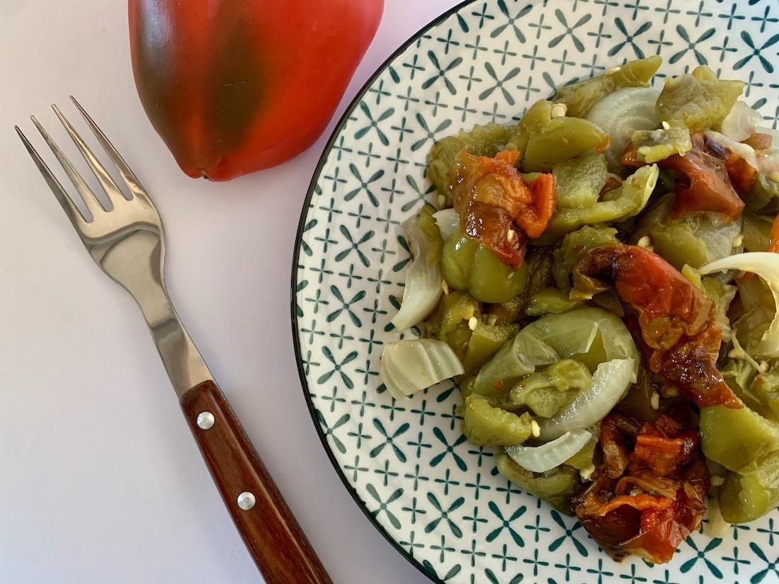 Spanish roasted pepper salad