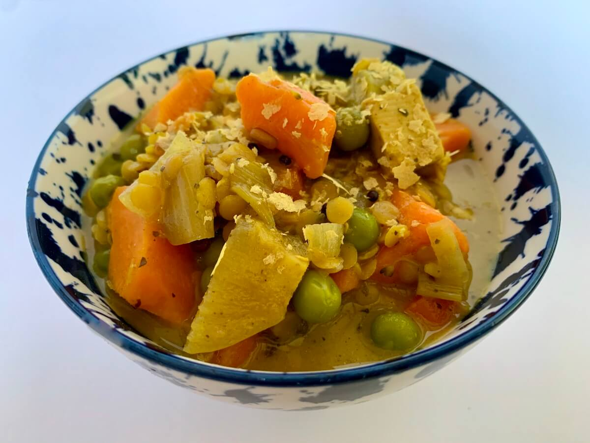 Bowl of sweet potato & lentil curry