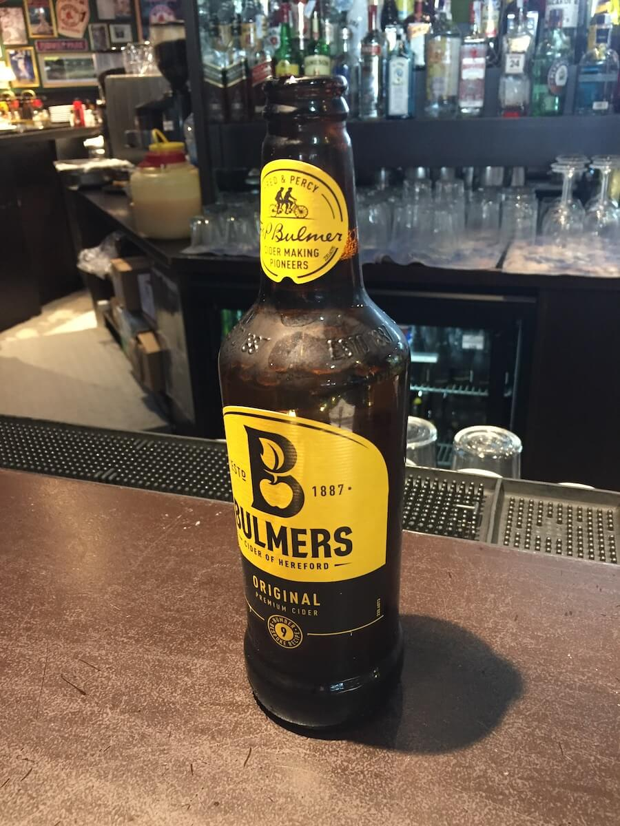 Bottle of Bulmers Cider