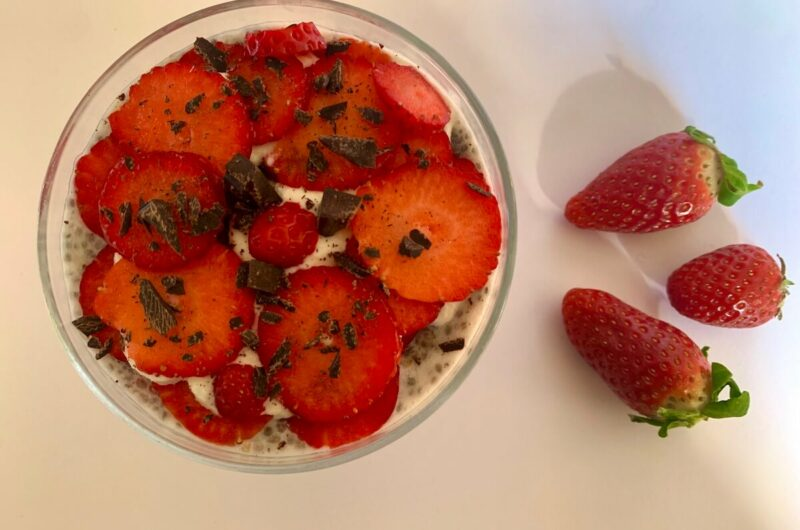Strawberry Chia Seed Pudding with a Twist